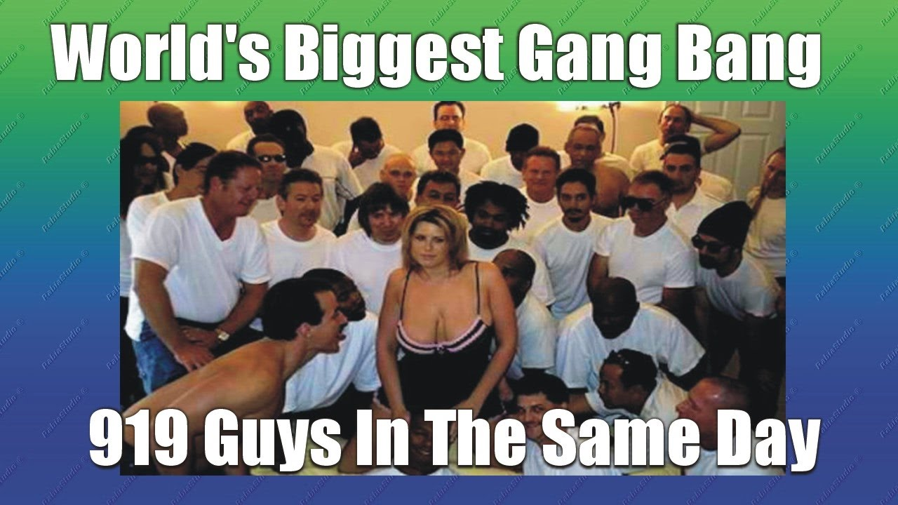 Amusing gang bang record holder