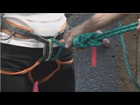 Rock Climbing : Tie a Rope to a Climbing Harness - YouTube