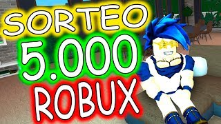 NEW 5000 ROBUX DRAW WITH 5 WINNERS ROBLOX