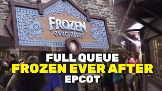 new frozen ever after full ride queue walkthrough at epcot norway walt disney world