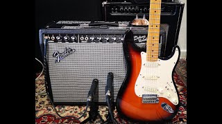 Fender Deluxe Reverb '64 Custom Handwired: BRIGHT Channel Clean and Crunch tones with Stratocaster
