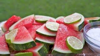 Margarita Soaked Watermelon Slices Recipe ~ Addictive!