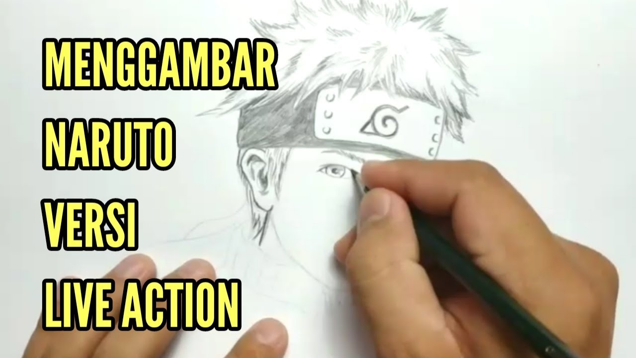 Gayaku cara menggambar naruto dengan pensil