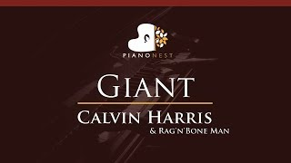 Baixar Calvin Harris, Rag'n'Bone Man - Giant - HIGHER Key (Piano Karaoke / Sing Along)
