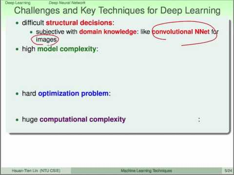 Deep Learning :: Deep Neural Network @ Machine Learning Techniques (機器學習技法)