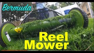 Mowing Low: Sun Joe Manual Reel Mower + Cultural Practices