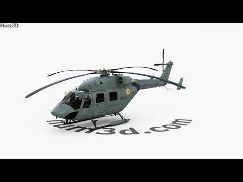 HAL Dhruv 3D model by Hum3D.com