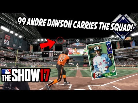 99 ANDRE DAWSON CARRIES THE SQUAD! - MLB The Show 17 Diamond Dynasty Gameplay