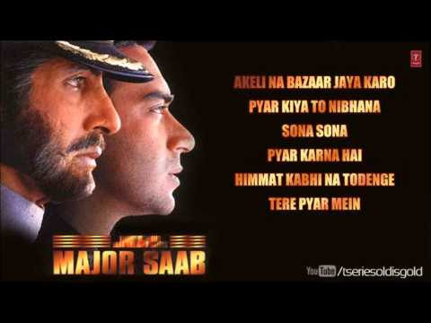 Major Saab Movie Full Songs | Amitabh Bachchan, Ajay Devgn, Sonali Bendre | Jukebox