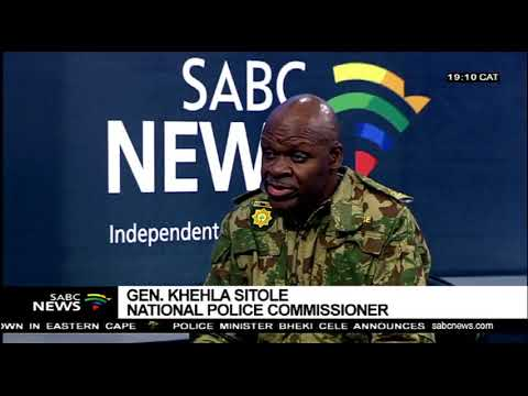 Police Commissioner Khehla Sitole On New Strategy To Combat Crime