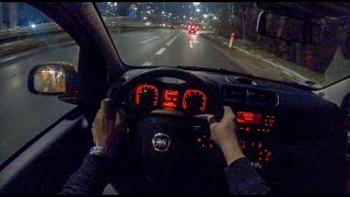 Fiat Panda Night | 4K POV Test Drive #398 Joe Black