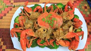Yummy Mudcrab Soak Coconut Milk Stir Fry With Broccoli     For beginners 2018