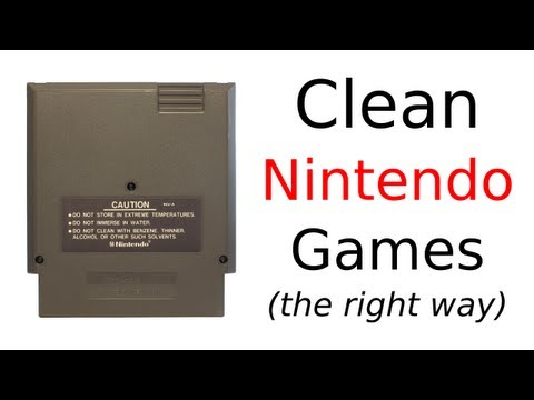 How To Clean NES Games