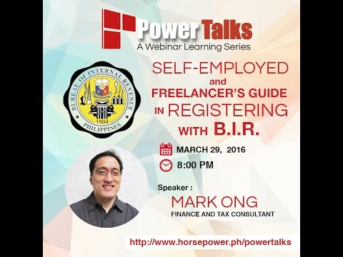PowerTalks 09 - Self-employed and Freelancer's Guide in Registering with B. I. R.