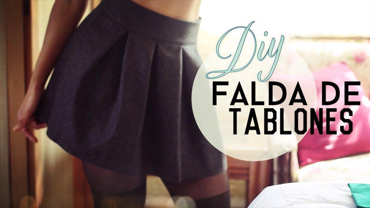 Cómo Hacer Tu Propia Falda De Tablones Pleated Skirt Youtube