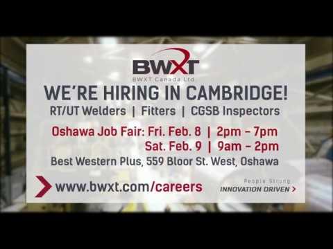BWXT Canada Oshawa Career Fair