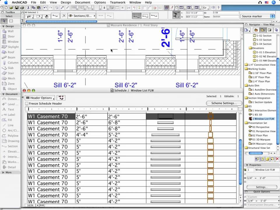how to change the material of a wall in archicad