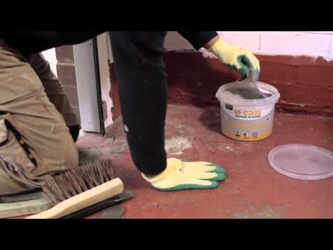 How to repair a concrete floor - U-CAN Ready to Use Concrete Patch Repair