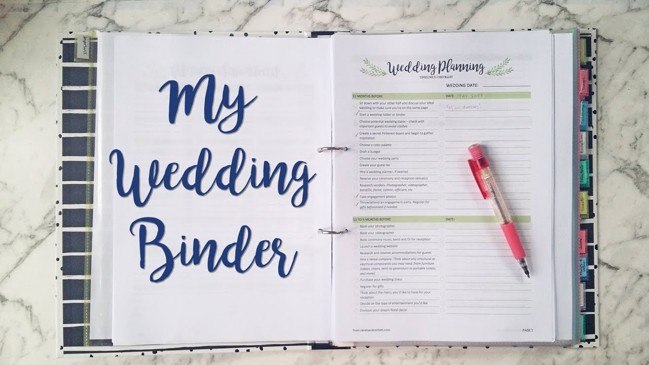 Diy Wedding Binder Flip Through Sam Granger Youtube