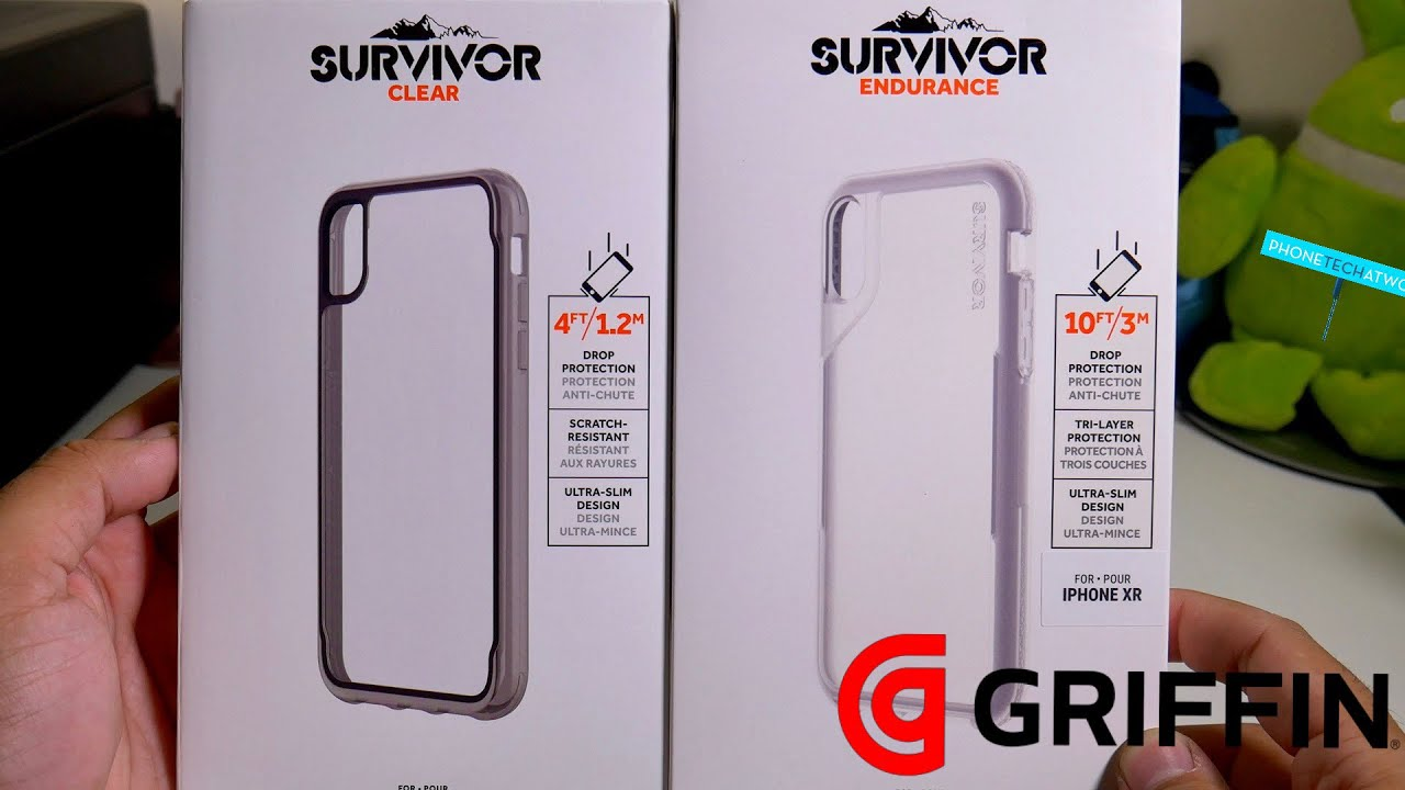 best service a8da3 f0d4c Griffin iPhone XR Clear And Endurance Survivor Cases! Rugged Clear Cases On  Deck!
