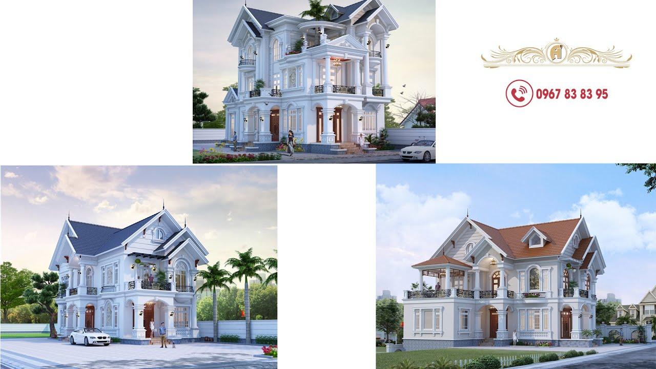 3 mẫu nhà biệt thự mái thái đẹp 2020