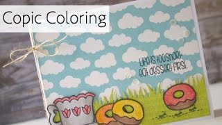 Coffee Lover's Blog Hop - Copic Coloring