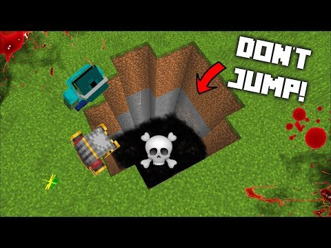 MC NAVEED AND MARK FRIENDLY ZOMBIE JUMP INSIDE A DANGEROUS PIT! DON'T GO INSIDE THIS PIT! Minecraft
