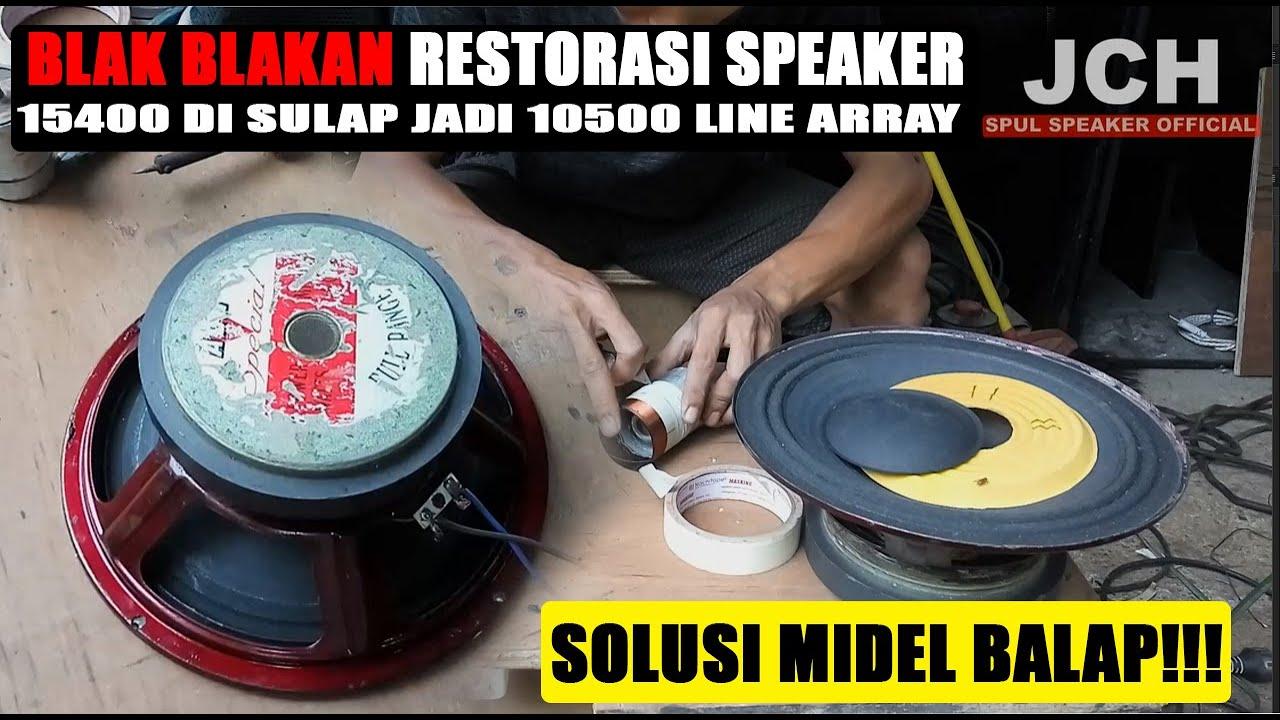 Tutorial Modifikasi Speaker 10 Inch Biasa Jadi Line Array Balap Youtube