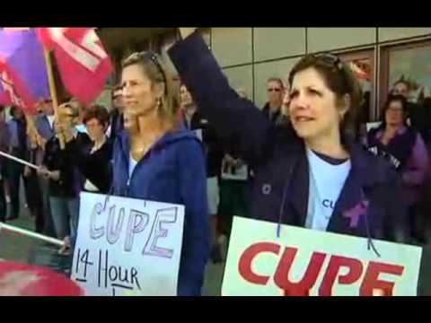 Air Canada flight attendants blocked from Striking