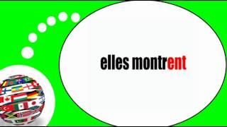 Французского видео урок = Глагол =, чтобы показать = в настоящем времени