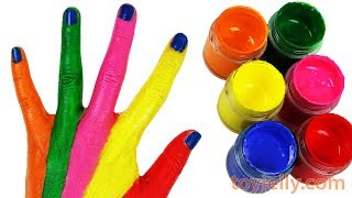 Finger Family Nursery Rhymes Song Learn Colors Hand Body Paint Surprise Toys Despicable Me 3 Minions