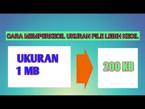 Cara Memperkecil Ukuran File Ijazah 200 Kb Youtube