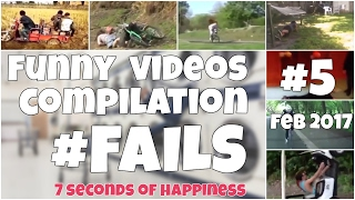 60 seconds compilation of fails #5 Feb 2017 by 7 seconds happiness FUNNY 😂