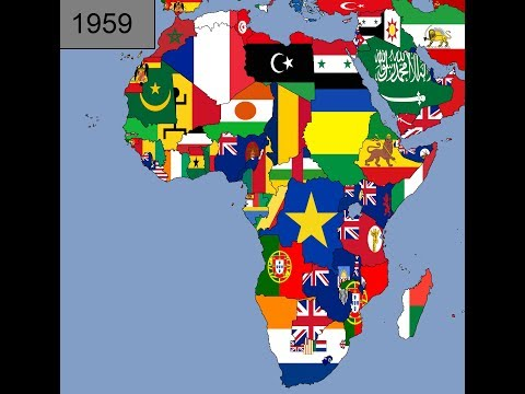 Africa: Timeline of National Flags: Part 1