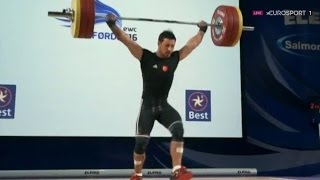 2016 European Weightlifting Championships, Men 69 kg \ Тяжелая Атлетика. Чемпионат Европы