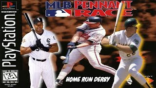 MLB Pennant Race PlayStation Gameplay - Frank Thomas & Mark McGwire Home Run Derby Contest