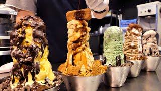 어맛! 빙수에 무슨일이고? 극강 비주얼 100% 리얼 수제 아이스크림 탑 빙수   100% Real Homemade Ice cream Bingsu    Korean Dessert