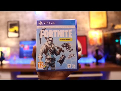 Fortnite Unboxing For PS4 Pro ( Deep Freeze Bundle )