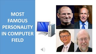 FAMOUS PERSONALITY IN COMPUTER FIELD || STEVE JOB || TIM BERNERS-LEE || BILL GATES || JAMES GOSLING