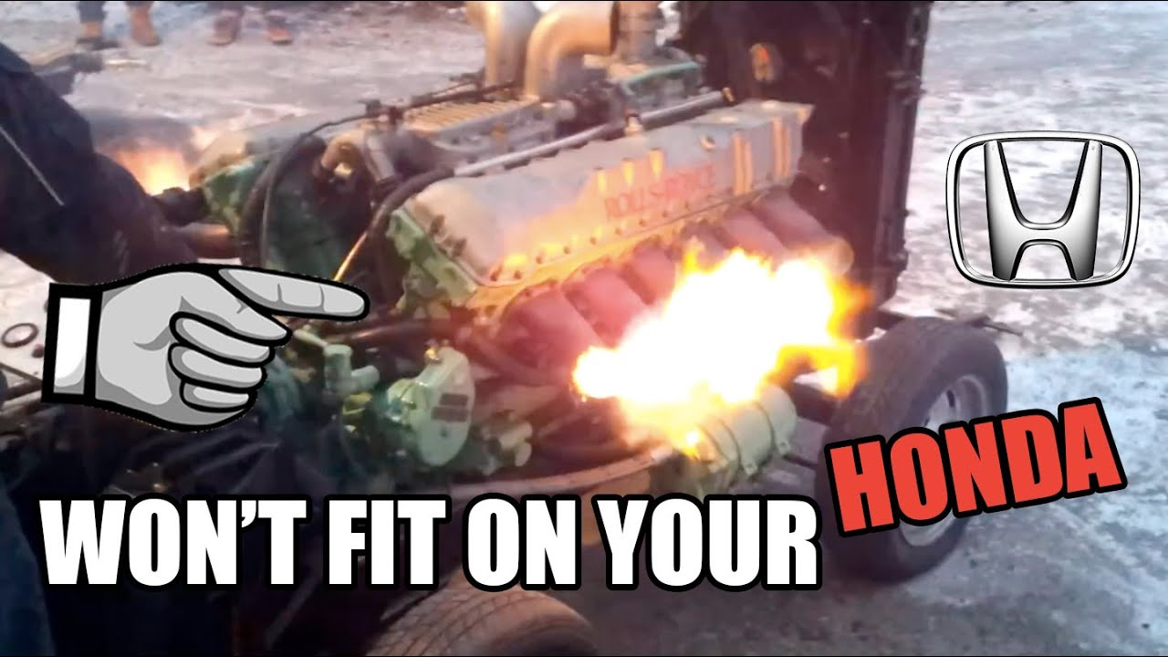 10 Giant Engines That Won't Fit On Your Honda - YouTube