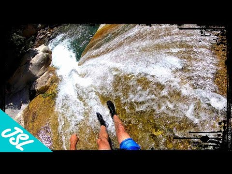 CRAZIEST Natural Waterslide!! Sequoia National Forest
