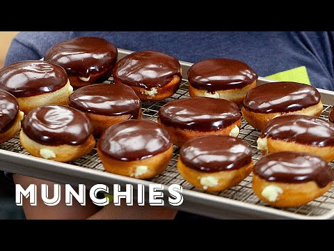 Homemade Boston Cream Donuts – The Cooking Show