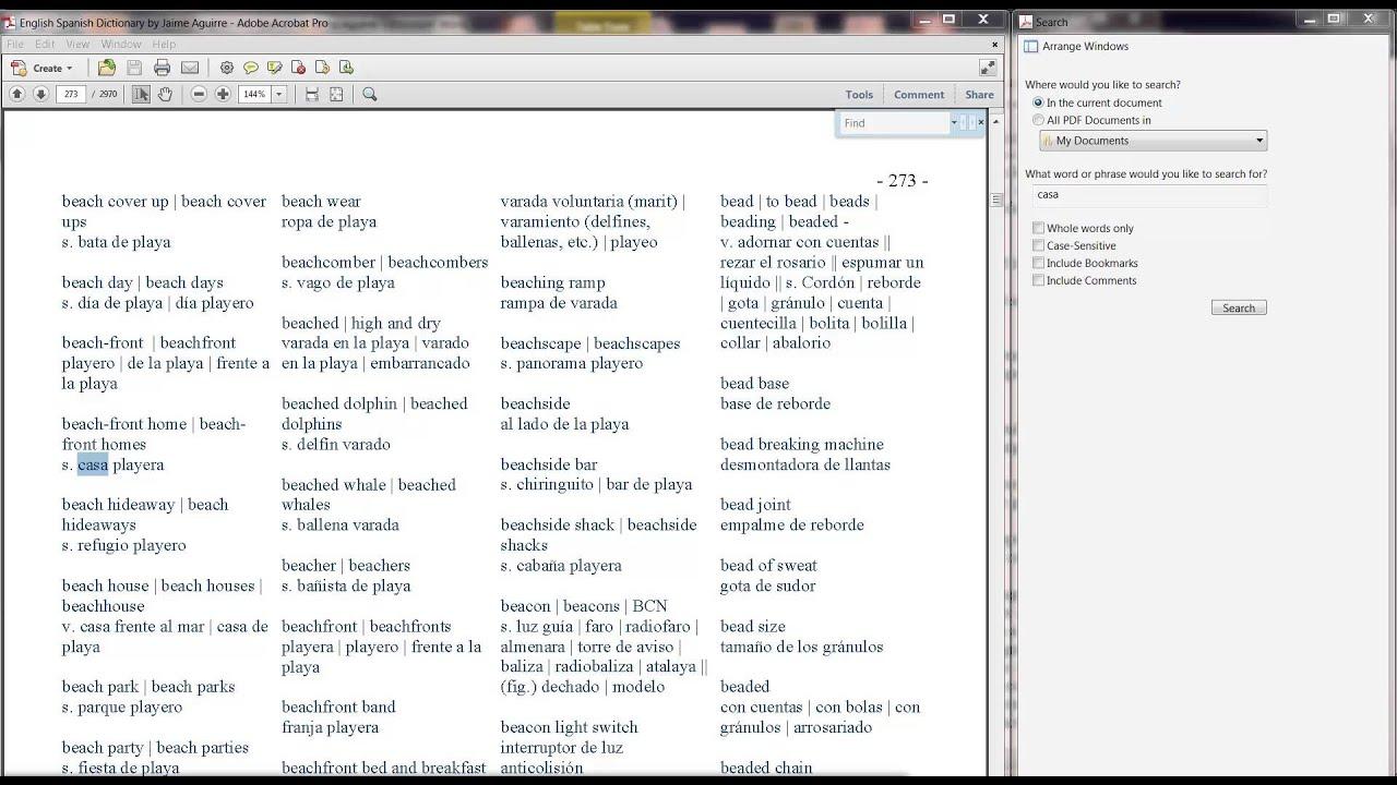 diccionario en ingles traducido en español descargar