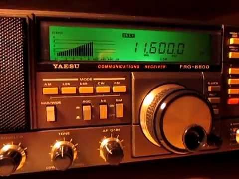 Radio Libya, 11600 Khz, received with a Yaesu FRG 8800 in Germany