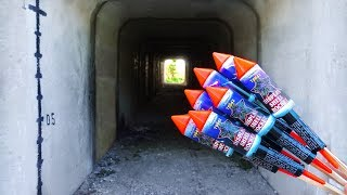 EXPERIMENT: XXL ROCKETS INSIDE THE TUNNEL