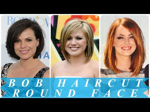 Trendy bob hairstyles for round faces