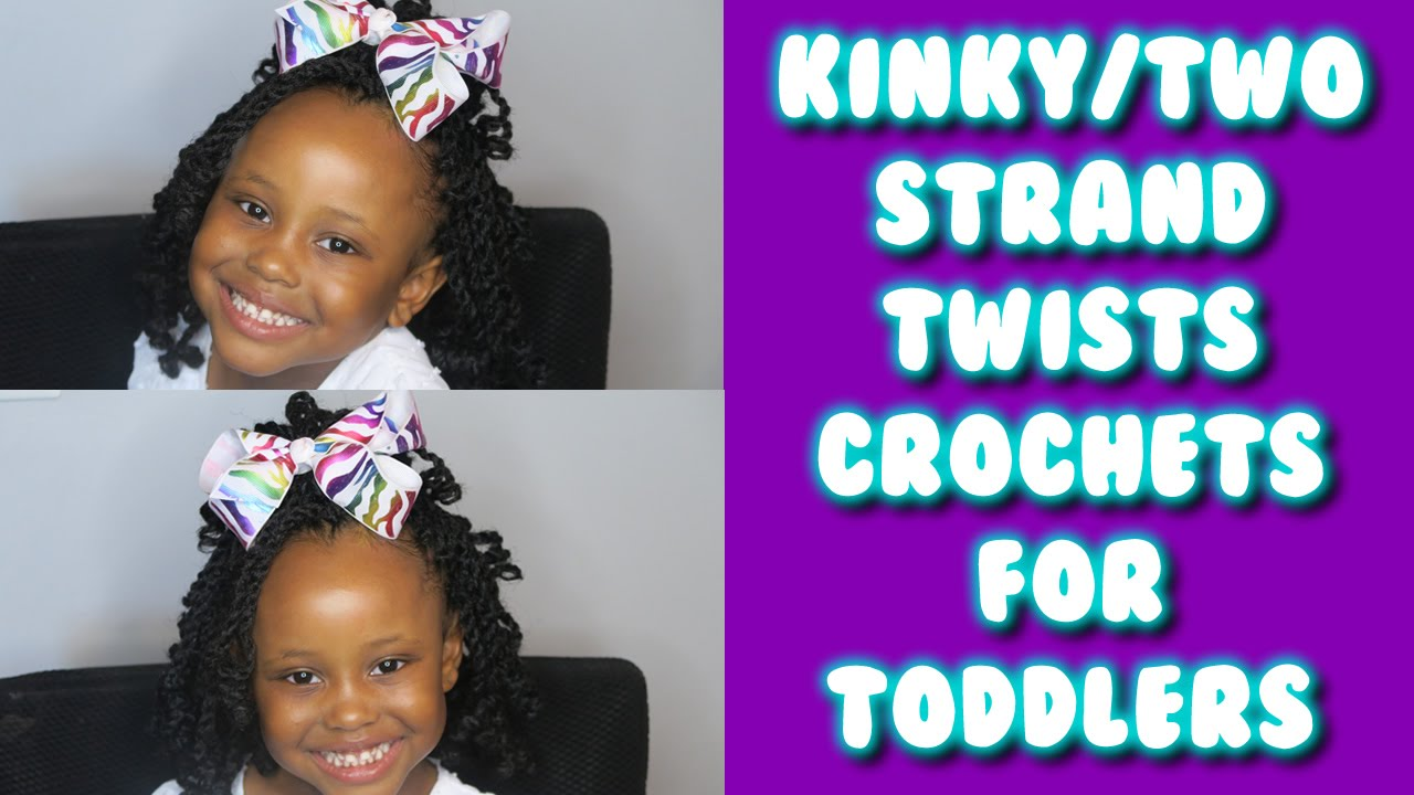 Kinky Two Strand Twists Crochet Braids For Toddlers Kids Youtube