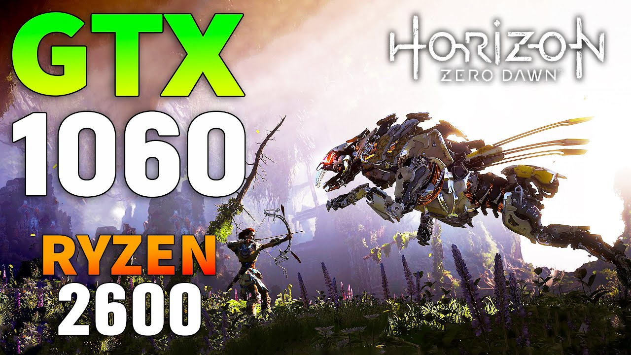 Horizon Zero Dawn : GTX 1060 + Ryzen 5 2600