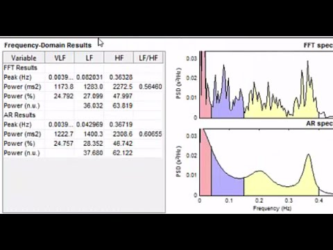 Heart Rate Variability Analysis Using Kubios Software and Excel Template