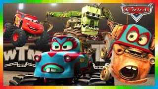 CARS FRANÇAIS - MONSTER MARTIN TRUCK - Film - Movie + Flash McQueen ( 1 2 3 Monstertrucks Goooo !!!)